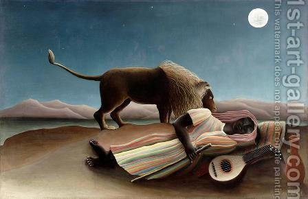 The Sleeping Gypsy by Henri Julien Rousseau - Reproduction Oil Painting