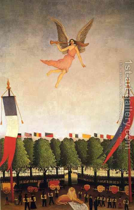Liberty Inviting Artists To Take Part In The 22nd Exhibition Of The Societe Des Artistes Independants by Henri Julien Rousseau - Reproduction Oil Painting