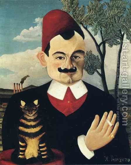 Portrait Of Pierre Loti by Henri Julien Rousseau - Reproduction Oil Painting