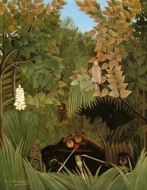 Famous paintings of Rainforests & Jungles: The Merry Jesters