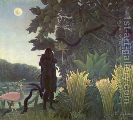 The Snake Charmer by Henri Julien Rousseau - Reproduction Oil Painting
