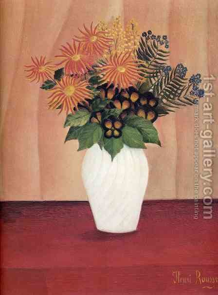 Bouquet Of Flowers by Henri Julien Rousseau - Reproduction Oil Painting