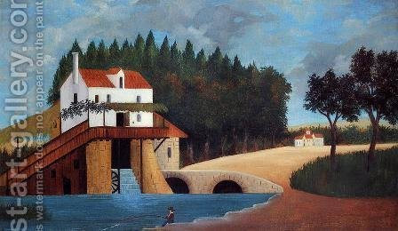The Mill by Henri Julien Rousseau - Reproduction Oil Painting