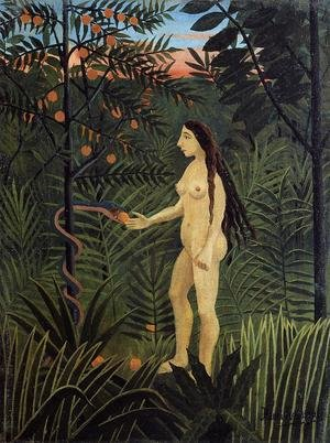 Famous paintings of Rainforests & Jungles: Eve And The Serpent