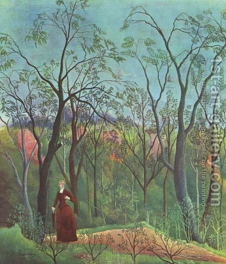 Forest Promenade by Henri Julien Rousseau - Reproduction Oil Painting