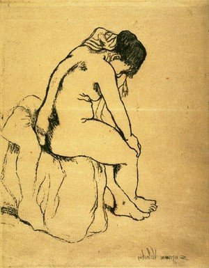 Reproduction oil paintings - Suzanne Valadon - Bather Seated