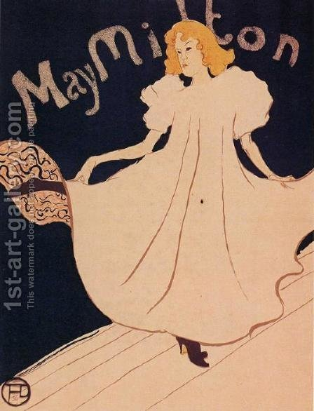 May Milton by Toulouse-Lautrec - Reproduction Oil Painting