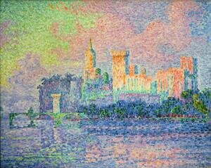 Pointillism painting reproductions: The Papal Palace Avignon