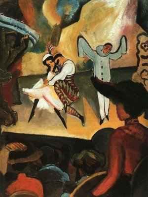 Neo-Expressionism painting reproductions: Russian Ballet