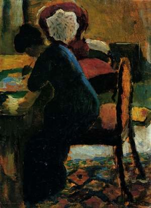 Neo-Expressionism painting reproductions: Elisabeth At The Desk