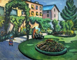 Reproduction oil paintings - August Macke - A Garden