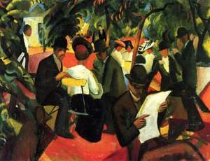 Expressionism painting reproductions: Garden Restaurant