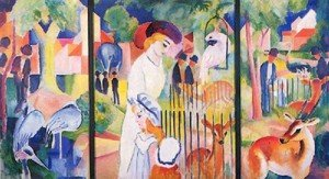 Expressionism painting reproductions: A Zoological Garden