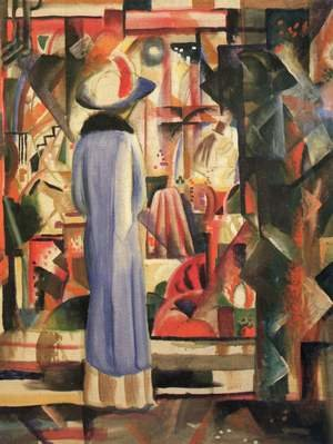 Expressionism painting reproductions: A Large Light Shop Window