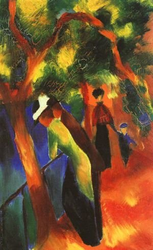 Reproduction oil paintings - August Macke - Sunlight Walk (Sonniger Weg)  1913