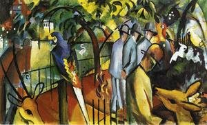 Expressionism painting reproductions: Zoological Garden I  1912