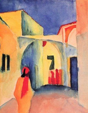 Expressionism painting reproductions: A Street