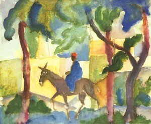Expressionism painting reproductions: Donkey Horseman