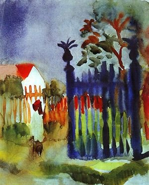 Expressionism painting reproductions: Garden Gate