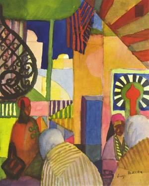 Reproduction oil paintings - August Macke - In The Bazar