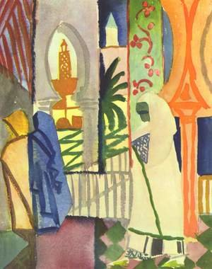 Expressionism painting reproductions: In The Temple Hall