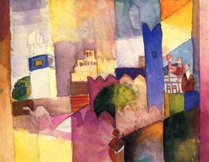 Expressionism painting reproductions: Kairouan