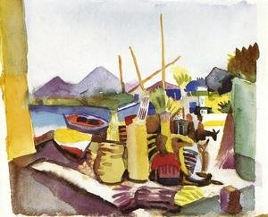 Expressionism painting reproductions: Landscape In Hammamet