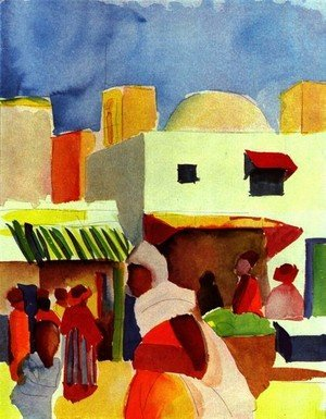 Reproduction oil paintings - August Macke - Market In Algier