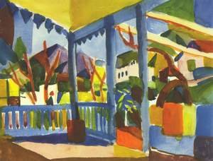 Reproduction oil paintings - August Macke - Terrace Of The Country House In St  Germain