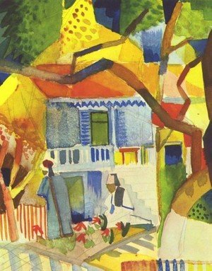 Expressionism painting reproductions: Patio Of The Country House In St  Germain