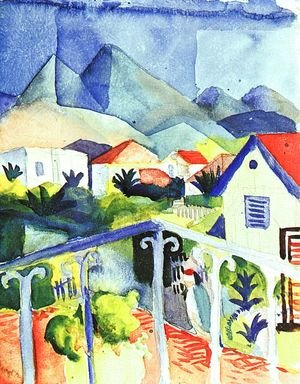 Expressionism painting reproductions: St. Germain near Tunis  1914