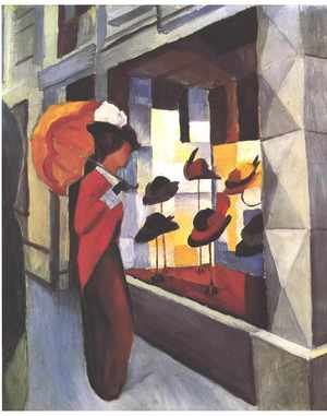 August Macke reproductions - Before The Hat Shop