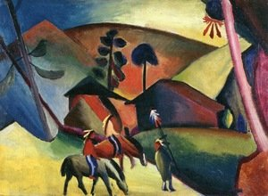 Reproduction oil paintings - August Macke - Indians On Horseback