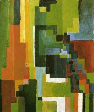 Reproduction oil paintings - August Macke - Coloured Forms II