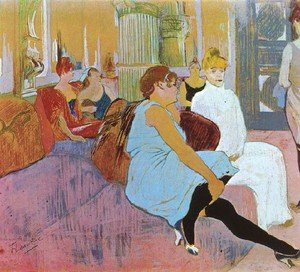 Salon In The Rue Des Moulins