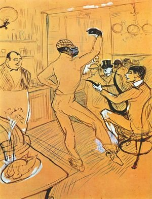 Reproduction oil paintings - Toulouse-Lautrec - Chocolat Dancing In Bar Darchille