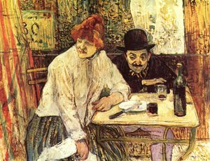 Reproduction oil paintings - Toulouse-Lautrec - In The Restaurant La Mie