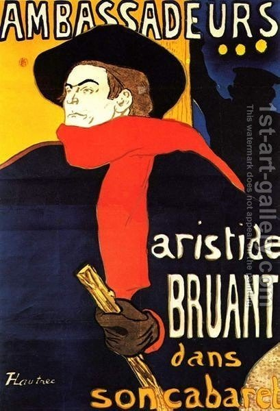 Aristide Bunting In His Cabaret by Toulouse-Lautrec - Reproduction Oil Painting