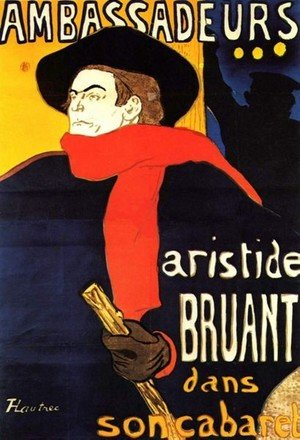 Reproduction oil paintings - Toulouse-Lautrec - Aristide Bunting In His Cabaret
