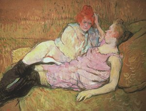 Reproduction oil paintings - Toulouse-Lautrec - On The Sofa