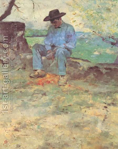 The Young Man From Celeyran by Toulouse-Lautrec - Reproduction Oil Painting