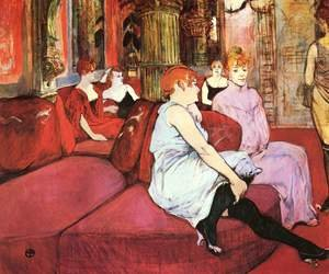 Reproduction oil paintings - Toulouse-Lautrec - The Waitting Room In The Rue Of The Moulins