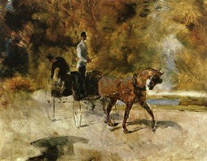 Reproduction oil paintings - Toulouse-Lautrec - Horse Carriage