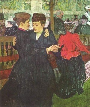 Reproduction oil paintings - Toulouse-Lautrec - Two Women Dancing At The Moulin Rouge