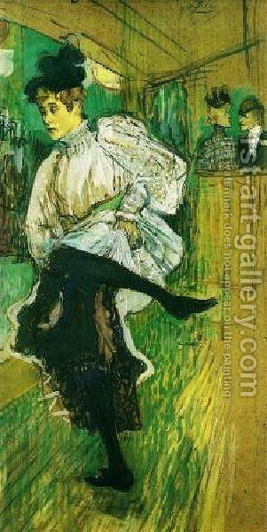 Jane Avril Dancing by Toulouse-Lautrec - Reproduction Oil Painting