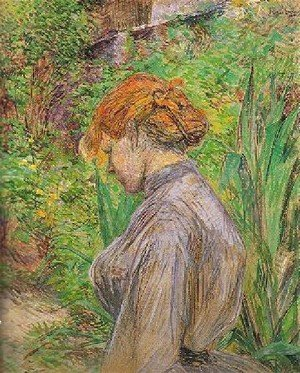 Reproduction oil paintings - Toulouse-Lautrec - Red Headed Woman In The Garden Of Monsieur Foret