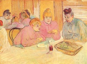 Reproduction oil paintings - Toulouse-Lautrec - In The Dining Room Of The Brothell