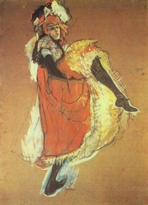 Reproduction oil paintings - Toulouse-Lautrec - Jame Avril Dancing   Study