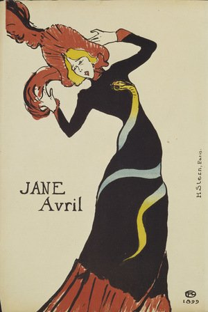 Reproduction oil paintings - Toulouse-Lautrec - Jane Avril Ii
