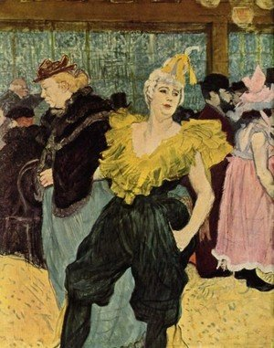 Reproduction oil paintings - Toulouse-Lautrec - The Clownesse Cha U Ka O In Moulin Rouge